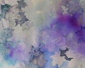 Nature in Lavender: Modern Floral Painting, Watercolor Painting, Handmade,Decorative Arts, Wall Hanging