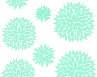 Flower Wall Decal. Dahlia Flower Vinyl Decal. Vinyl Wall Art. One Color choice.