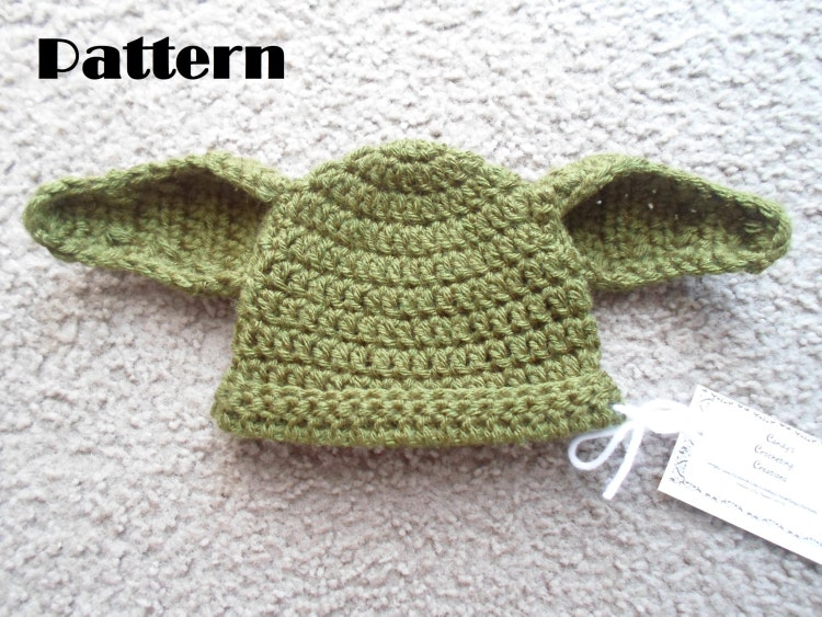 Crochet Pattern Yoda Ears : Crochet PDF Pattern. Yoda Hat Instant by DarlingBabyCreations