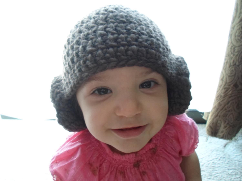 Crochet Pattern Princess Leia Hat : Crochet Star Wars Princess Leia Hat: Sizes Newborn 0-3 mths