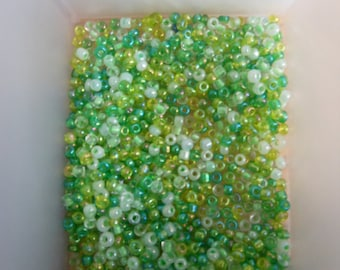 Assorted Green Plastic Beads