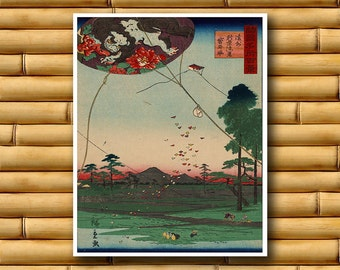 Asian Decor Japanese Art Print Retro Poster (J16)