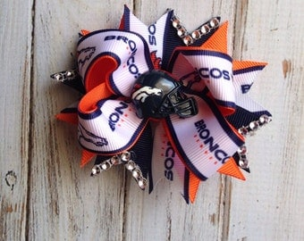Broncos boutique stacked bow