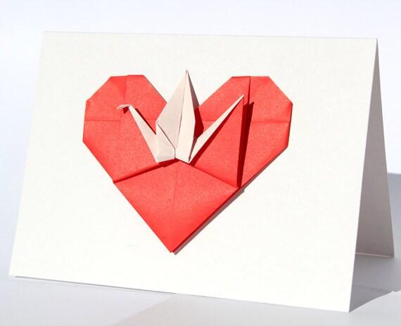 valentin carte de f licitations de coeur origami mariage. Black Bedroom Furniture Sets. Home Design Ideas
