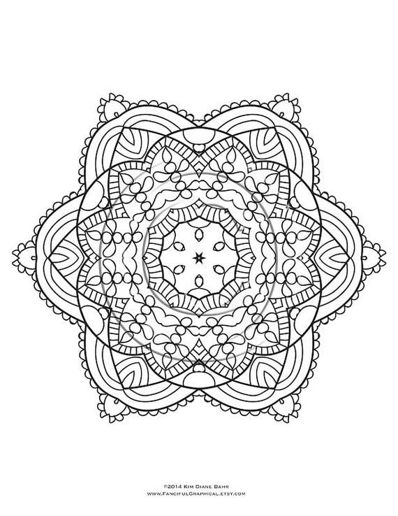 Items Similar To Mandala And Kaleidoscope Coloring Page