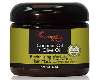 Coconut Oil + Olive Oil Hair Mask ~ Essential Oils for Hair Growth ~ 100% Natural