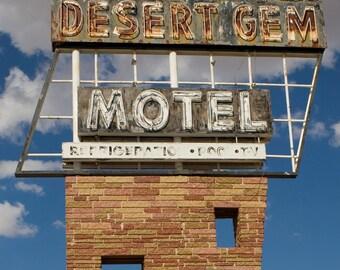 Neon Sign Desert Gem Motel