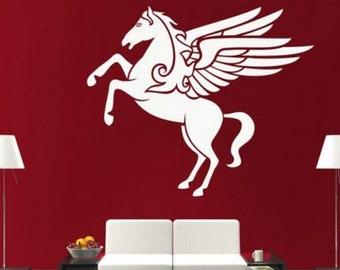 Pegasus Decor Wall Sticker White