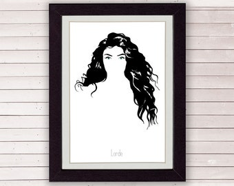 Lorde poster, digital art print, wall poster, LIMITED EDITION FOR 35