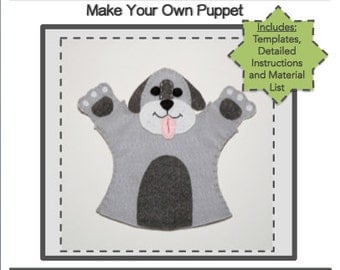 PDF Template Download - Puppy Hand Puppet