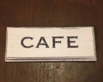 Vintage Looking Cafe Sign
