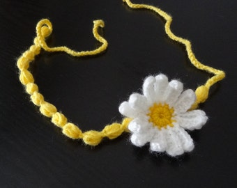 Newborn Headband, Newborn photo prop, baby headband, sweet Crochet headband flowers crochet headband red yellow flowers Hair Accessories