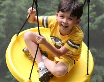 Super FUN!  Tire Swing , Tree Swing. Swingset. Swing & Spin!  :-D Super Spinner Swing is a favorite gift, Kids Love it!! ;-D