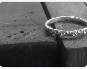 Medium Squid Sterling Silver Tentacle ring. Handmade Rustic Design Made to Order in ANY size Octopus Nautical tentacle Handmade