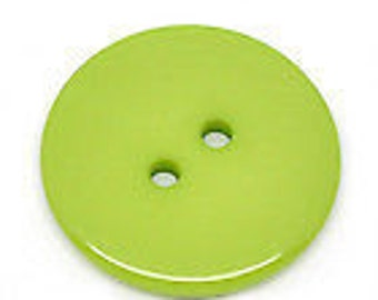 Ten resin buttons pink or green