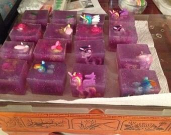 My Little Pony Glitter Birthday Party Favor Soap