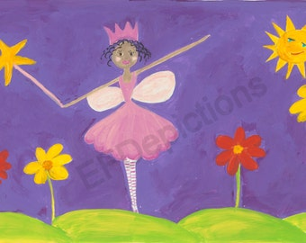 African American Fairy of Flowers