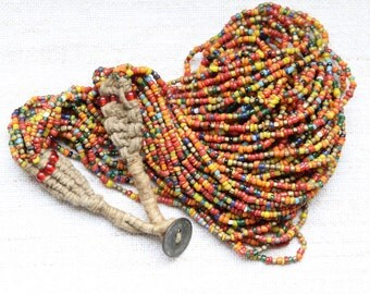 Multistrand Glass Bead Necklace - Multicolor
