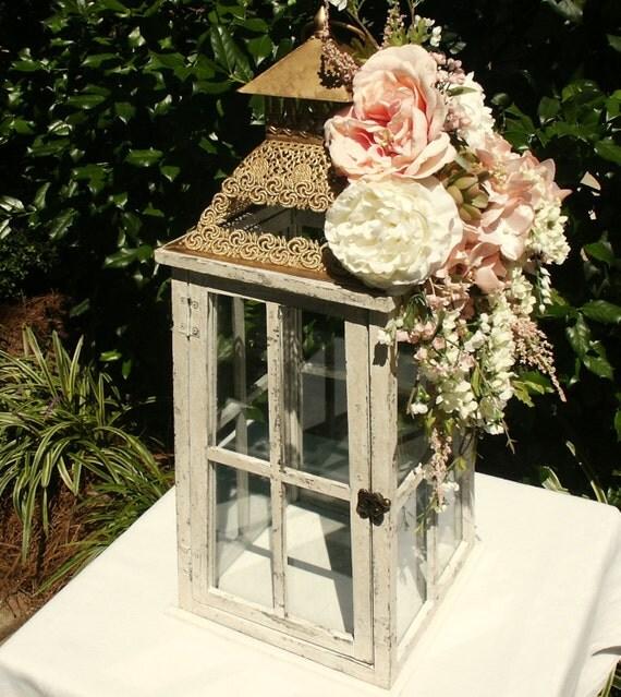 Items Similar To Wedding Card Box Ivory Pink Gold Wedding