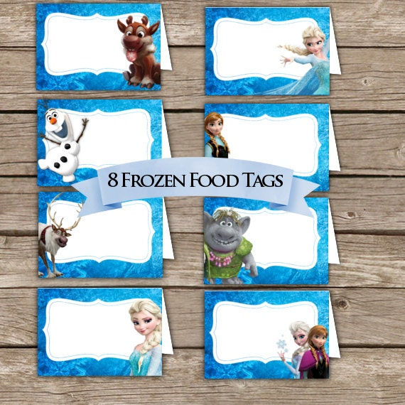 Frozen Food Tents Place Holders Digital Download Frozen