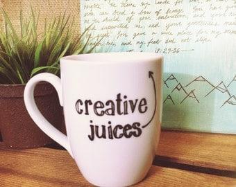 Creative Juices - Hand Painted Mug