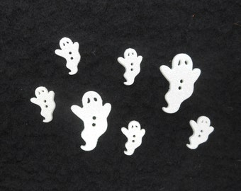 "Buttons ""Ghostly Glitter""  - Package of 6"