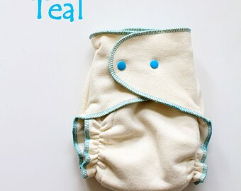 Certified Organic Hemp/Cotton One Size Fitted Cloth Diaper