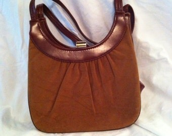 Vintage brown suede purse