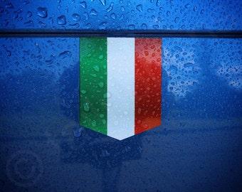 "Flag of Italy Car Sticker - 1 3/8"" x 1 3/4"" - Italian Decal Vinyl Emblem"