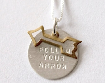 Follow Your Arrow Necklace
