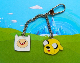 Adventure Time Finn & Jake keychain  Free UK Postage!