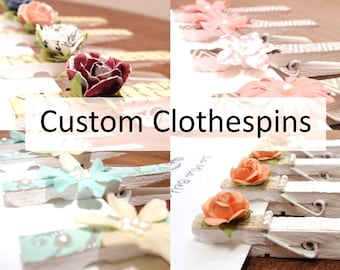 items similar to baby shower clothespins it 39 s a girl decorated with