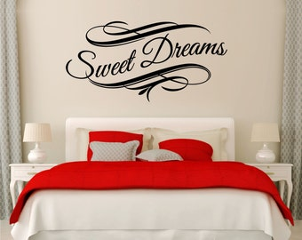 Sweet Dreams Vinyl Art Home Style Wall Bedroom Quote Decal Sticker Decoration
