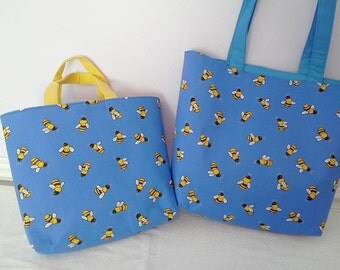 Bumble Bee Cotton Tote Bag - This listing is for large tote only. See separate listing for medium tote.