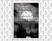 SALE - Gothic Art Print Poster - Most People Want to be the Sun - Wall Decor, Inspirational Print, Home Decor, Gift