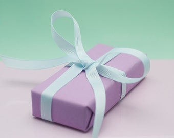 Lilac/pastel purple Wrapping paper pack – lilac gift wrap – 2 Sheets
