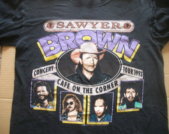 "Sawyer Brown tour t-shirt  ""Cafe on the Corner 1993""  size mens L"
