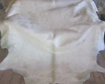 White Natural Cowhide