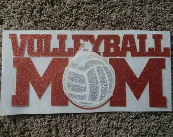 Volleyball T-Shirts, Sports Shirt, Women's Shirt, Team Shirt, Volleyball Mom T-Shirt, Glitter volleyball MOM Shirt