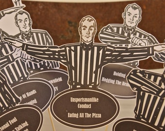 Football Party - Retro Referees! Editable & Printable, Perfect for Your Football Themed Party!