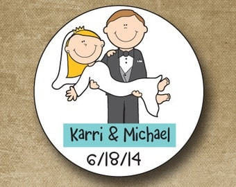 Personalized Wedding Stickers, Custom Wedding Labels, Wedding Favor Stickers, Wedding Favor Tags, Bride & Groom Stickers, Personalized Label