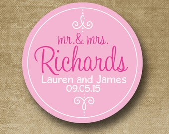 Custom Wedding Stickers, Personalized Wedding Labels, Save the Date Stickers, Just Married, Wedding Favor Stickers, Stickers for Favors