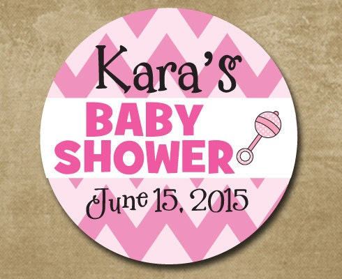 baby shower stickers personalized girl baby shower stickers