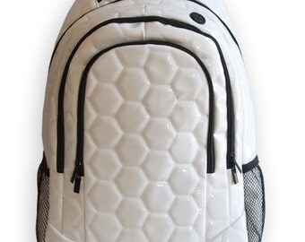 Soccer Ball Backpack - real soccer ball material