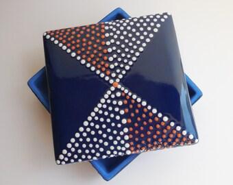 SALE Ceramic Jewelry Box