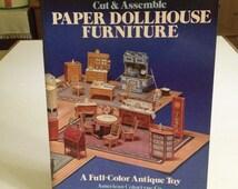 Cut & Assemble Paper Dollhouse Furniture