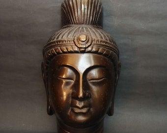 Mind Healing Buddha Mask Japanese Antique Vintage Zen Wabi Sabi