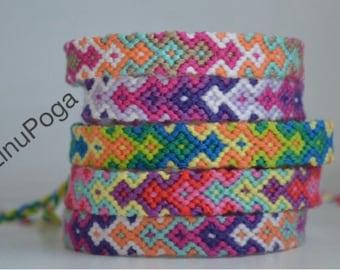Bracelets. Friendship bracelets. Friends bracelets. Colorful friendship bracelets. Handmade, stylish accessories