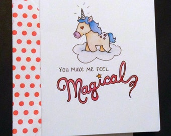 You Make Me Feel Magical Notecard