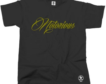 Notorious Gold Biggie Smalls T-Shirt (Brown) Notorious BIG